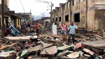"""Die Stadt Baracoa in der kubanischen Provinz Guantánamo nach dem Durchzug des Hurrikan """"Matthew"""""""