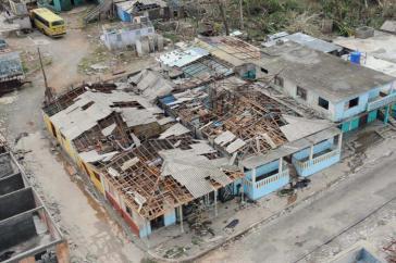 In Baracoa sollen mehr als 90 Prozent der Dächer von Sturmschäden betroffen sein