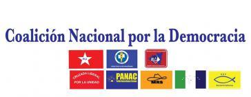 Logos der Parteien im Oppositionsbündnis CND