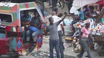 Straßenszene in Port-au-Prince