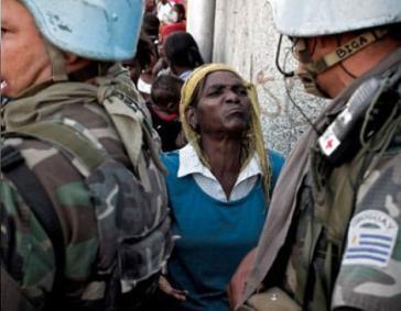 """Immer wieder gab es massive Proteste gegen die """"UN-Mission zur Stabilisierung Haitis"""""""