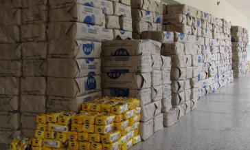 Im Bundestaat Zulia 30 Tonnen Maismehl des Konzerns Polar