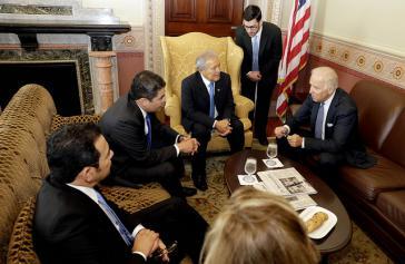 Präsidenten Mittelamerikas im Gespräch mit US-Vizepräsident Biden