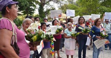 Protest gegen das absolute Abtreibunsverbot in El Salvador