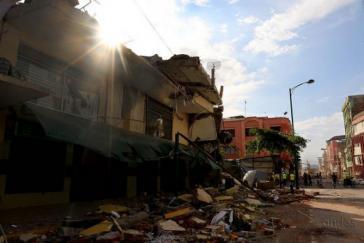Zerstörungen in Portoviejo nach dem Erdbeben