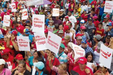 Am vergangenen Wochenende fanden im ganzen Land Kundgebungen und Demonstrationen gegen die Einmischung der USA statt