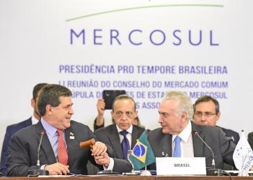 Brasiliens Präsident Michel Temer und Paraguays Präsident Horacio Cartes