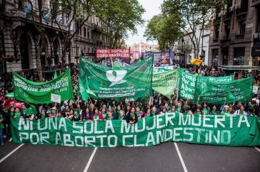 Demonstration für die Legalisierung von Abtreibung in Buenos Aires am 28. September