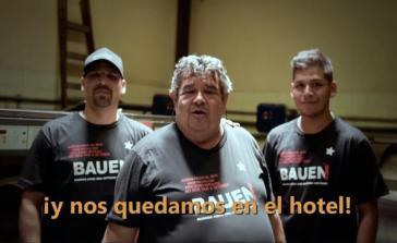 Entschlossen zu bleiben: Arbeiter des selbstverwalteten Hotels Bauen in Argentiniens Hauptstadt