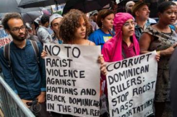 Protest gegen rassistische Gewalt gegenüber Haitianern und Schwarzen in der Dominikanischen Republik