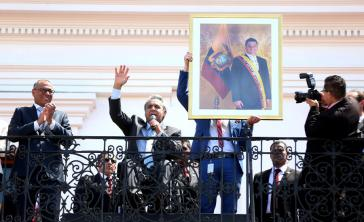 Beim Amtsantritt von Lenín Moreno in Ecuador wurde nicht nur das Bild seines Vorgängers ausgewechselt