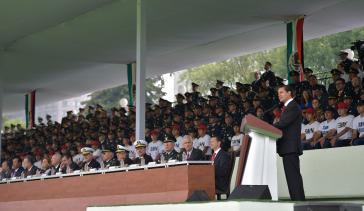 Mexikos Präsident Enrique Peña Nieto bei einer Ansprache vor Militärs am 5. Mai 2017