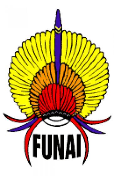 Das Logo der Indigenenbehörde FUNAI in Brasilien