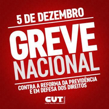 Aufruf zum Generalstreik am Tag der Debatte über die Rentenreform im Kongress in Brasilien