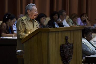 Präsident Raúl Castro vor der Nationalversammlung von Kuba
