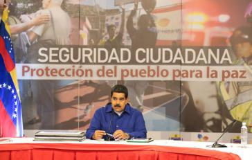 Venezuelas Präsident Nicolás Maduro stellt das neue Sicherheitskonzept vor