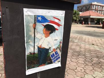 Plakat der Boykott-Kampagne gegen die Volksbefragung in Puerto Rico