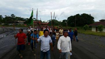Vertreter der Organización Interétnica del Alto Pastaza im peruanischen Amazonasgebiet