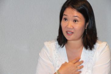 Die Oppositionsführerin Keiko Fujimori sitzt seit einer guten Woche wieder in Untersuchungshaft