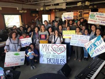 Der Widerstand gegen das Wasserkraftwerk in Pajuiles erfährt auch außerhalb von Honduras Solidarität