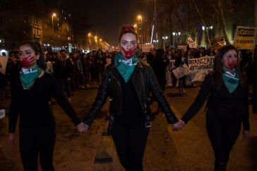 Demonstration für die Legalisierung des Schwangerschaftsabbruchs in der chilenischen Hauptstadt Santiago