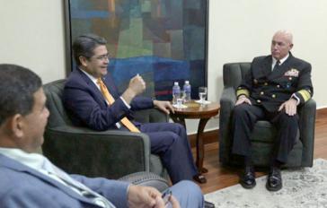 Treffen zwischen Juan Orlando Hernández und Kurt Tidd in Honduras