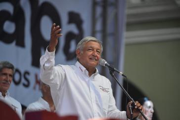 Andrés Manuel López Obrador versicherte bei einer öffentlichen Veranstaltung, dass seine Regierung die Fracking-Methode nicht einsetzen wird