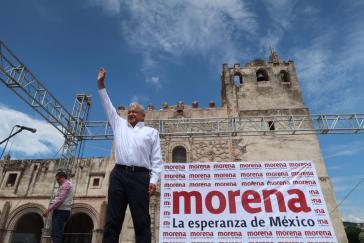 Andrés Manuel López Obrador, der Kandidat der Linken für die Präsidentschaftswahlen im Juli in Mexiko