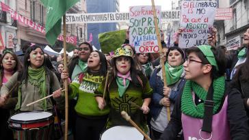 Frauenrechtlerinnen in Buenos Aires, Argentinien
