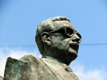Statue von Salvador Allende in Santiago de Chile