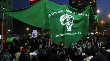 An der Demonstration für die Liberalisierung des Abtreibungsrechts in Chile am 25. Juli nahmen in der Hauptstadt mehr als 50.000 Menschen teil