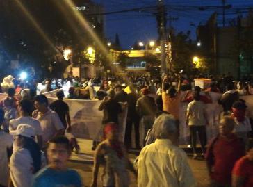 Protest vor der Vertretung der UN in Tegucigalpa, Honduras