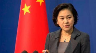 Die Sprecherin des Außenamtes von China, Hua Chunying