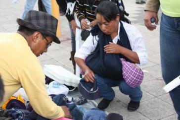 Straßenhändler in Südamerika