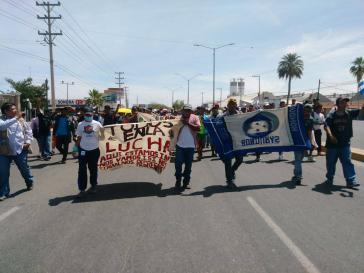 Die Karawane der Migranten startete am 25. März im mexikanischen Tapachula an der Grenze zu Guatemala und erreichte jetzt die US-Grenze