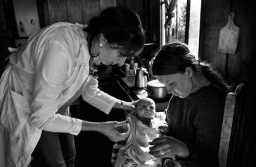 Kubanische Ärztin in einem ländlichen Gebiet Brasiliens