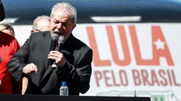 Lula vor einigen Tagen bei einer Rede in Santana de Livramento