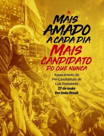 Die Arbeiterpartei (PT) hält an der Kandidatur Lulas für das Präsidentenamt fest