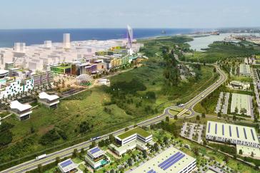 So soll die Sonderwirtschaftszone Mariel zukünftig aussehen. Das kubanisch-italienische Joint Venture Vidrios Mariel S.A. soll dort in zwei Jahren mit der Produktion beginnen
