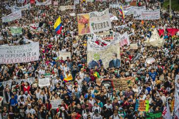 Demonstration von Studierenden in Medellín