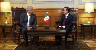 Verstehen sich gut: López Obrador und Peña Nieto