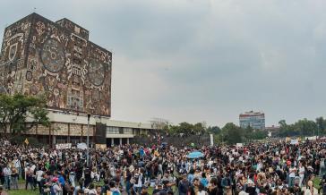 Unam in Mexiko: Studierende protestieren hier gegen politische Gewalt auf dem Campus