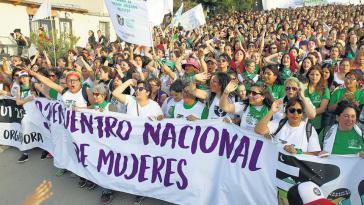 Über 50.000 Frauen nahmen in diesem Jahr in der argentinischen Region Chubut am seit 1985 jährlich stattfindenden Frauenkongress teil