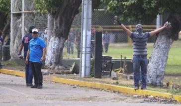 Gewaltbereite Demonstranten in Nicaragua