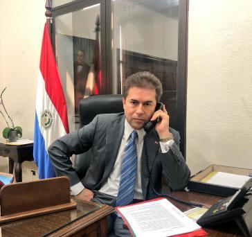 """""""Auch Türkei eröffnet Botschaft"""": Außenminister von Paraguay, Luis Castiglioni"""