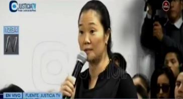 Keiko Fujimori hatte bei der Anhörung vor Gericht in Peru alle Vorwürfe zurückgewiesen