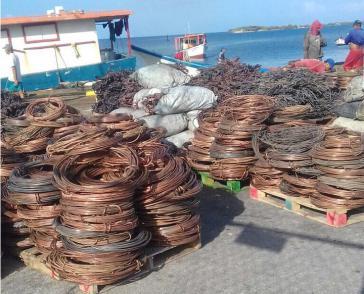 Aus Venezuela geschmuggeltes Kupfer, hier auf der Karibikinsel Aruba
