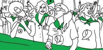 Die grünen Tücher sind in Argentinien und auf dem amerikanischen Kontinent zum Symbol des Rechts auf Abtreibung geworden