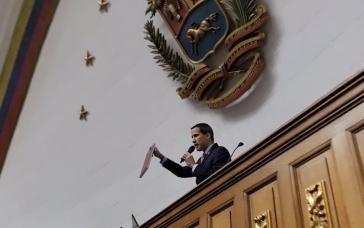 """Die Position als Präsident der Nationalversammlung von Venezuela ist die Begründung von Guaidós """"Interimspräsidentschaft"""""""