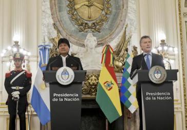 Boliviens Präsident Morales und sein argentinischer Amtskollege Macri haben eine engere Zusammenarbeit im Energiesektor vereinbart